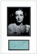 Joan Crawford Autograph Signed